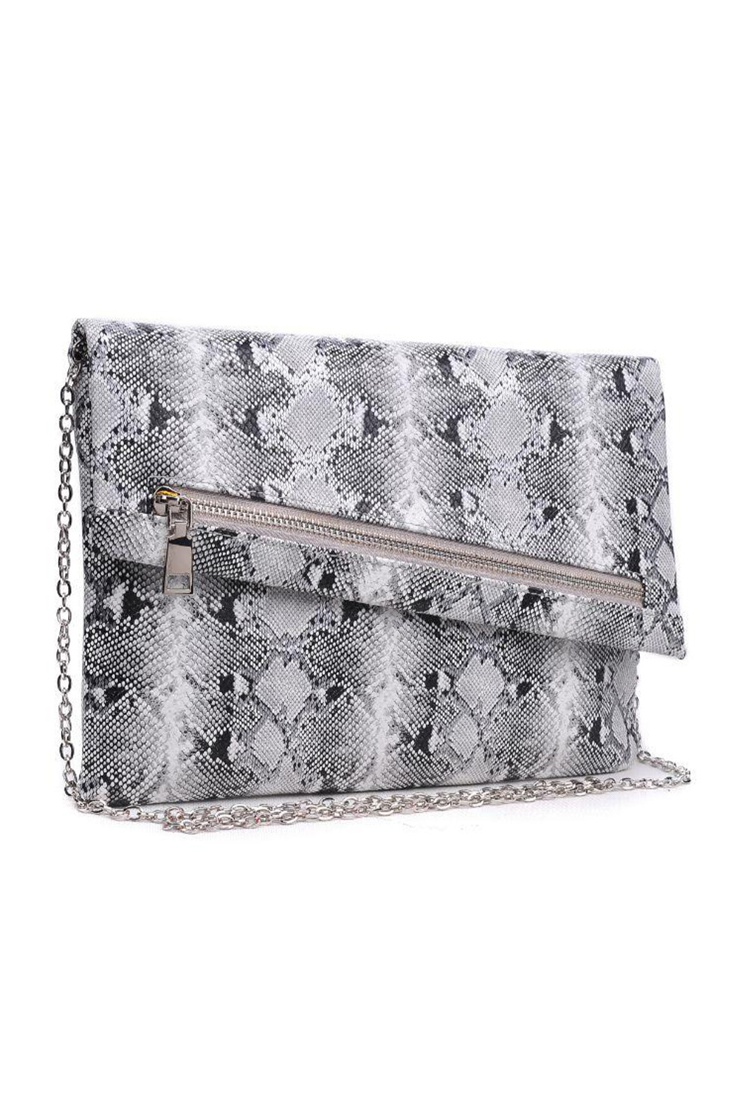 Urban Expressions Maddox Vegan Leather Clutch - Front Full Image