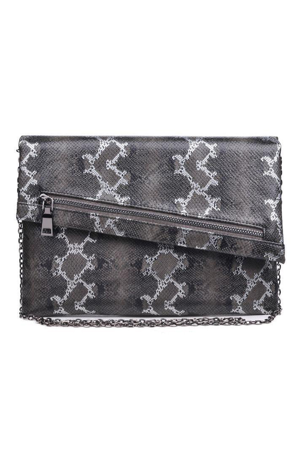 Urban Expressions Maddox Vegan Leather Clutch - Front Cropped Image