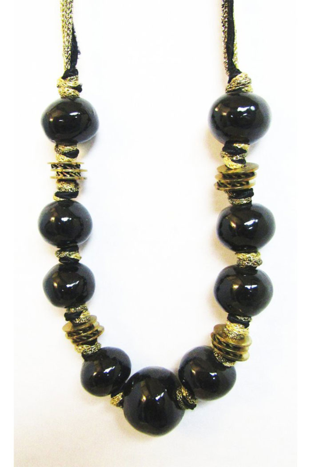 KIMBALS Made In Greece Black Ceramic Necklace - Main Image