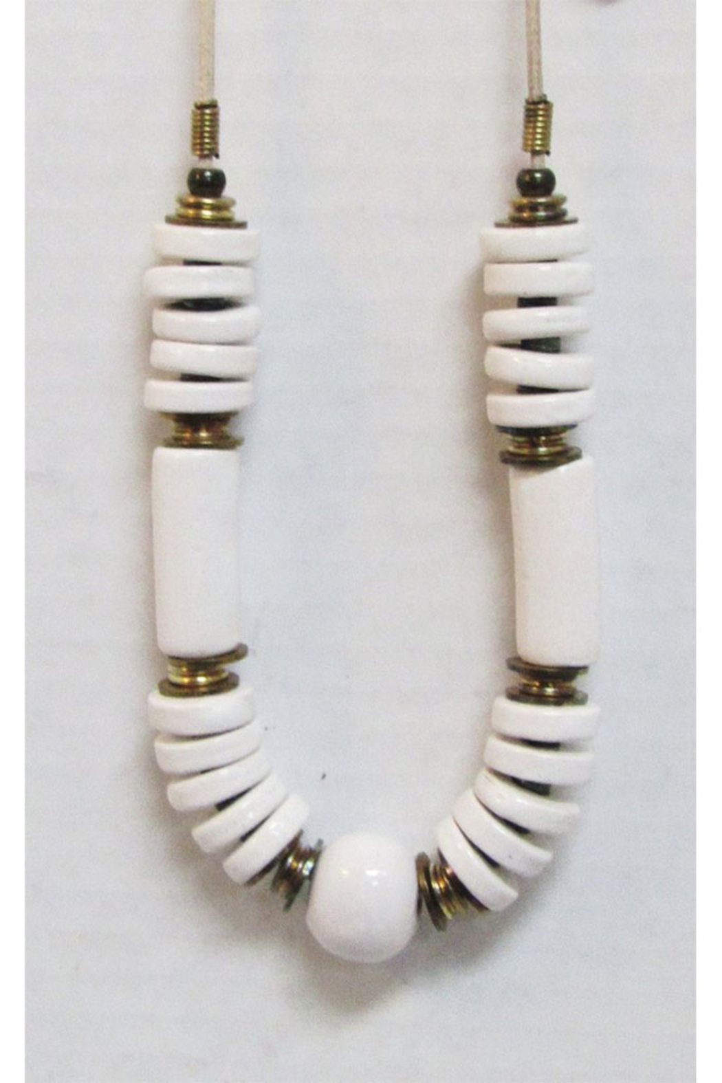KIMBALS Made in Greece White Ceramic Necklace - Main Image