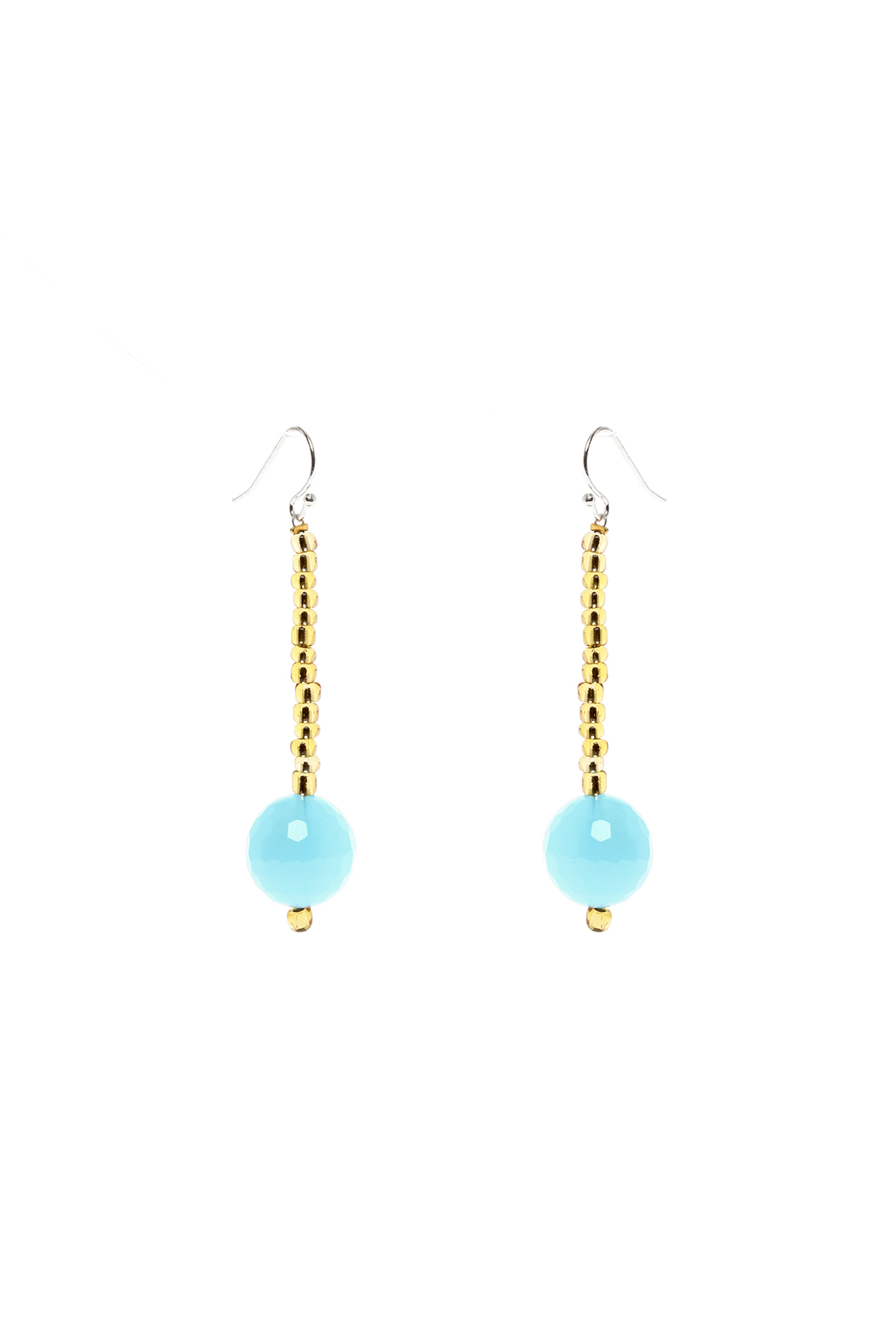 Made It! Beaded Turquoise Earrings - Main Image