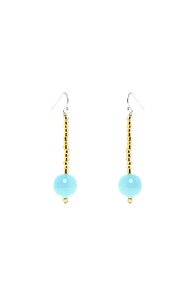 Made It! Beaded Turquoise Earrings - Product Mini Image