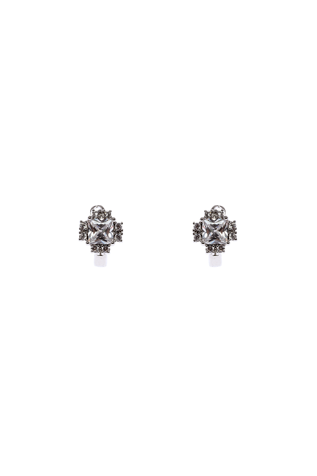 Made It! Stud Cubic Zirconia Earrings - Front Cropped Image