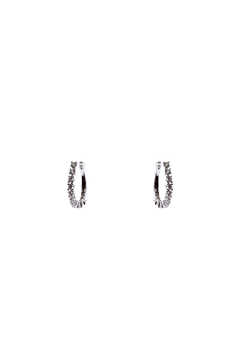 Shoptiques Product: Oval Cubic Zirconia Earrings
