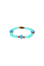 Made It! Turquoise Faceted Crystal Bead - Product Mini Image