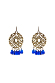 Made It! Gold Blue Circular Dangle - Product Mini Image