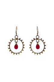 Made It! Glam Gold Dangling Earrings - Product Mini Image