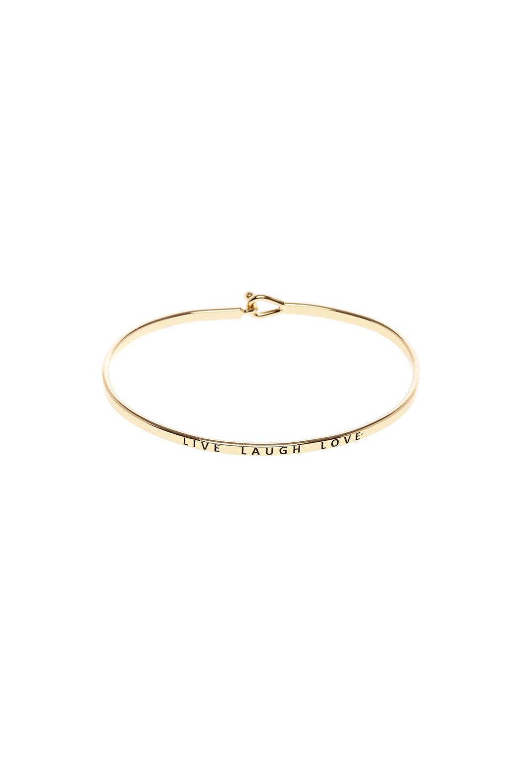 Made It! Gold Live Laugh Love Bracelet - Front Cropped Image