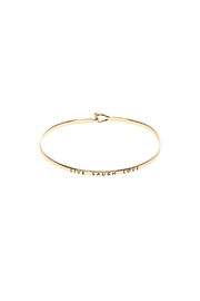 Made It! Gold Live Laugh Love Bracelet - Front cropped