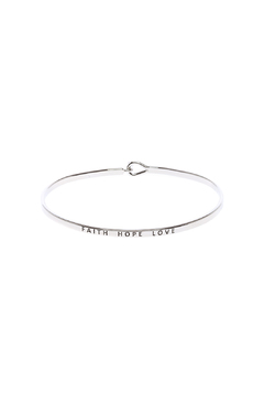 Shoptiques Product: Faith Love Hope Bracelet