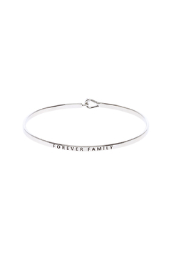 Shoptiques Product: Forever Family Inspirational Bracelet