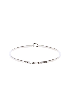 Shoptiques Product: Forever Friends Inspirational Bracelet