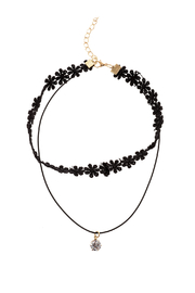 Made It! Lace Charm Choker Necklace - Front cropped