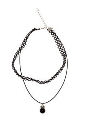 Made It! Lace Drop Choker Necklace - Product Mini Image
