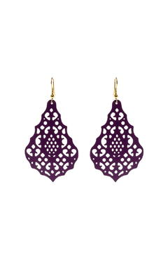 Made It! Magenta Laser Cut Earrings - Product List Image