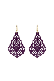 Made It! Magenta Laser Cut Earrings - Product Mini Image