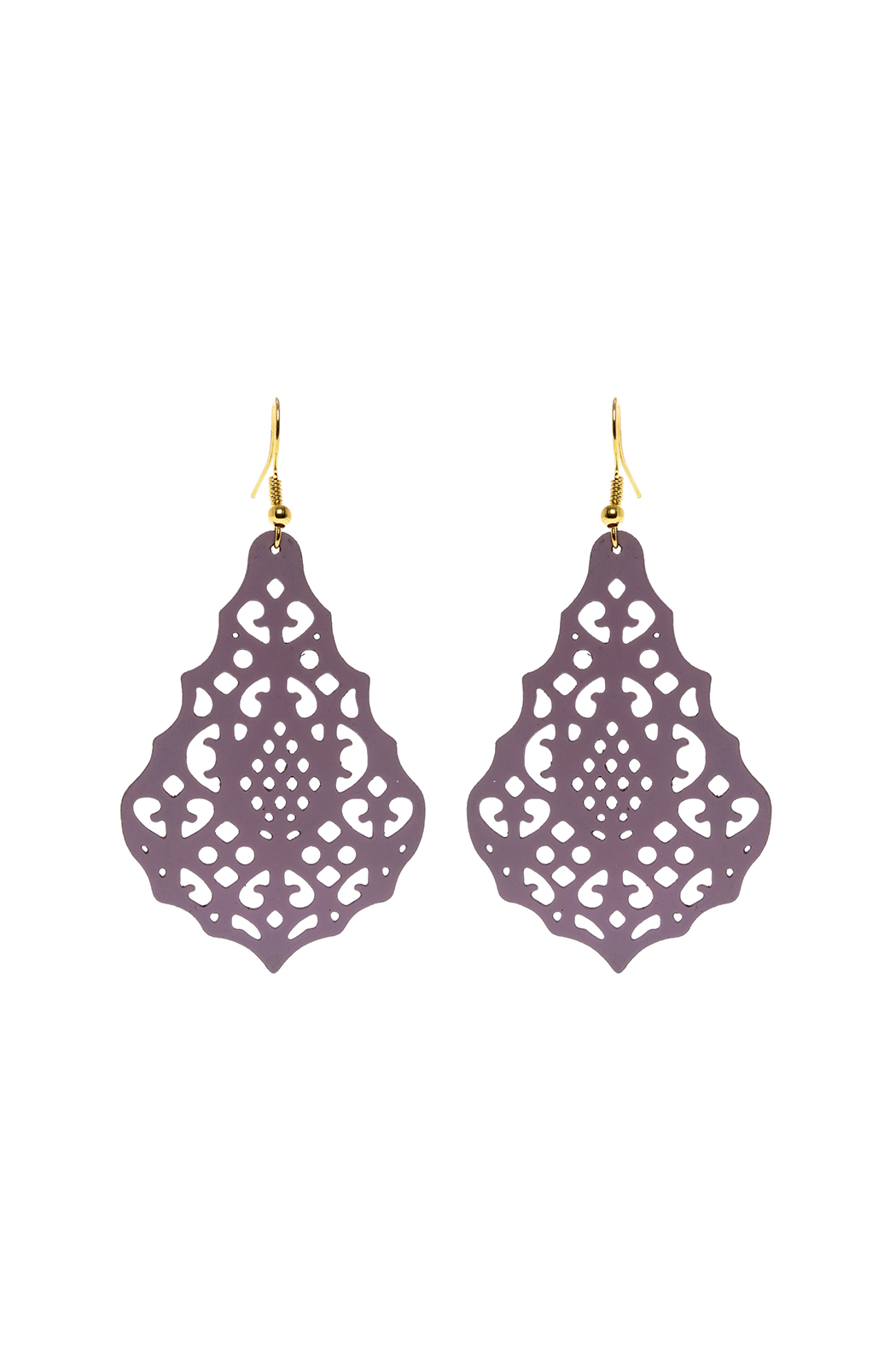 Made It! Violet Laser Cut Earrings - Main Image