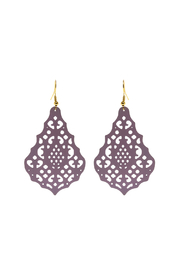 Made It! Violet Laser Cut Earrings - Front cropped