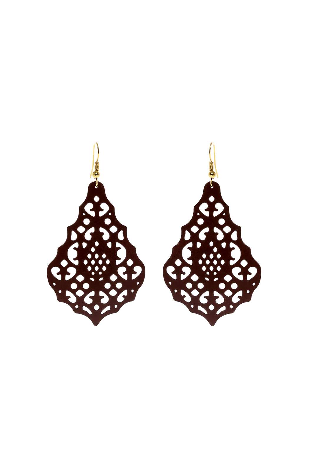 Made It! Chocolate Laser Cut Earrings - Main Image