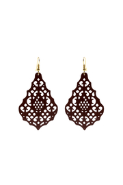 Made It! Chocolate Laser Cut Earrings - Product Mini Image