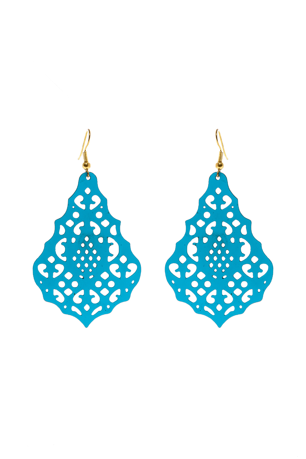 Made It! Turquoise Laser Cut Earrings - Main Image