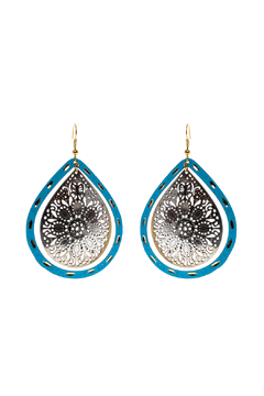 Made It! Turquoise Laser Cut Earrings - Alternate List Image