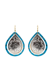 Made It! Turquoise Laser Cut Earrings - Product Mini Image