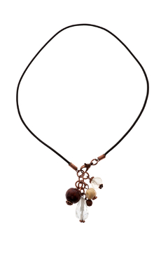 Shoptiques Product: Leather Drop Necklace
