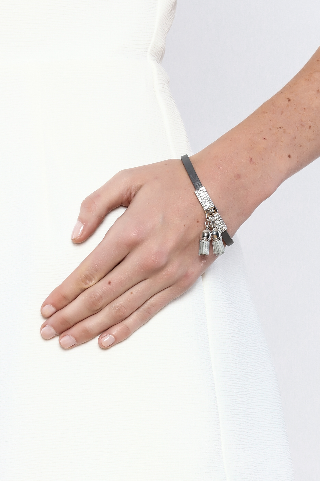 Made It! Leather Tassel Bracelet - Back Cropped Image