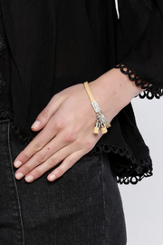 Made It! Leather Tassel Bracelet - Back cropped