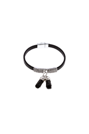 Made It! Leather Tassel Bracelet - Front cropped