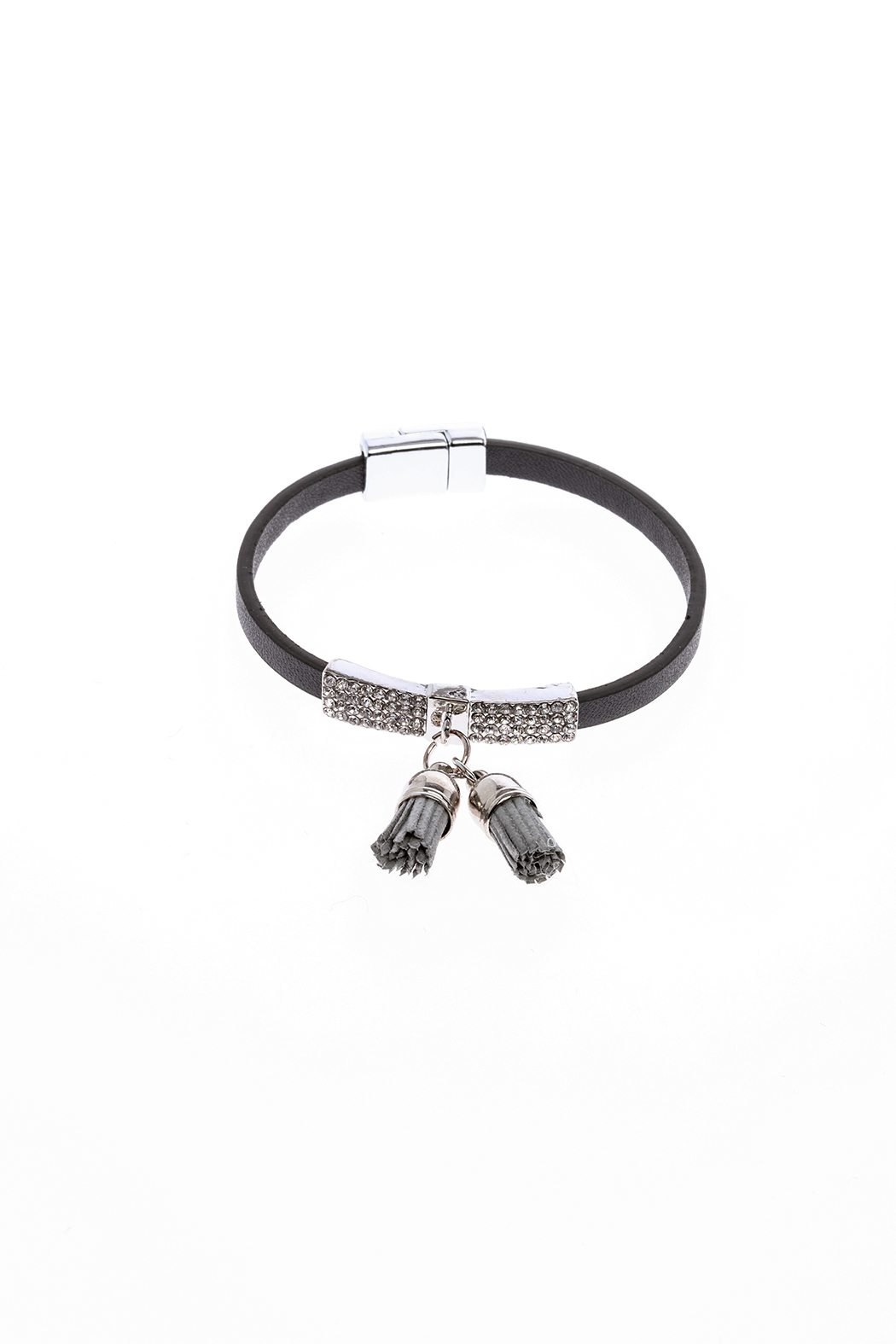 Made It! Leather Tassel Bracelet - Front Cropped Image