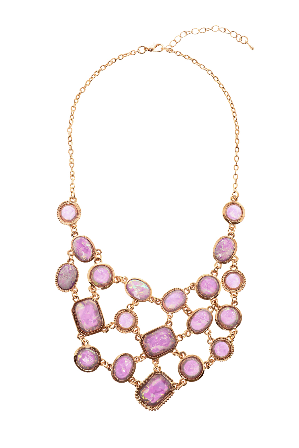 Made It! Opal Essence Statement Necklace - Front Cropped Image