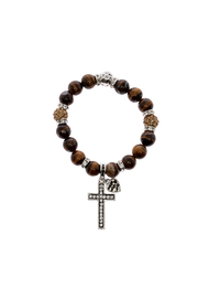Made It! Tiger Eye Silver Stretch Bracelet - Product Mini Image
