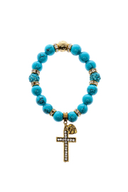 Made It! Turquoise Gold Stretch Bracelet - Product Mini Image