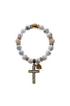 Shoptiques Product: Cross Stretch Bracelet