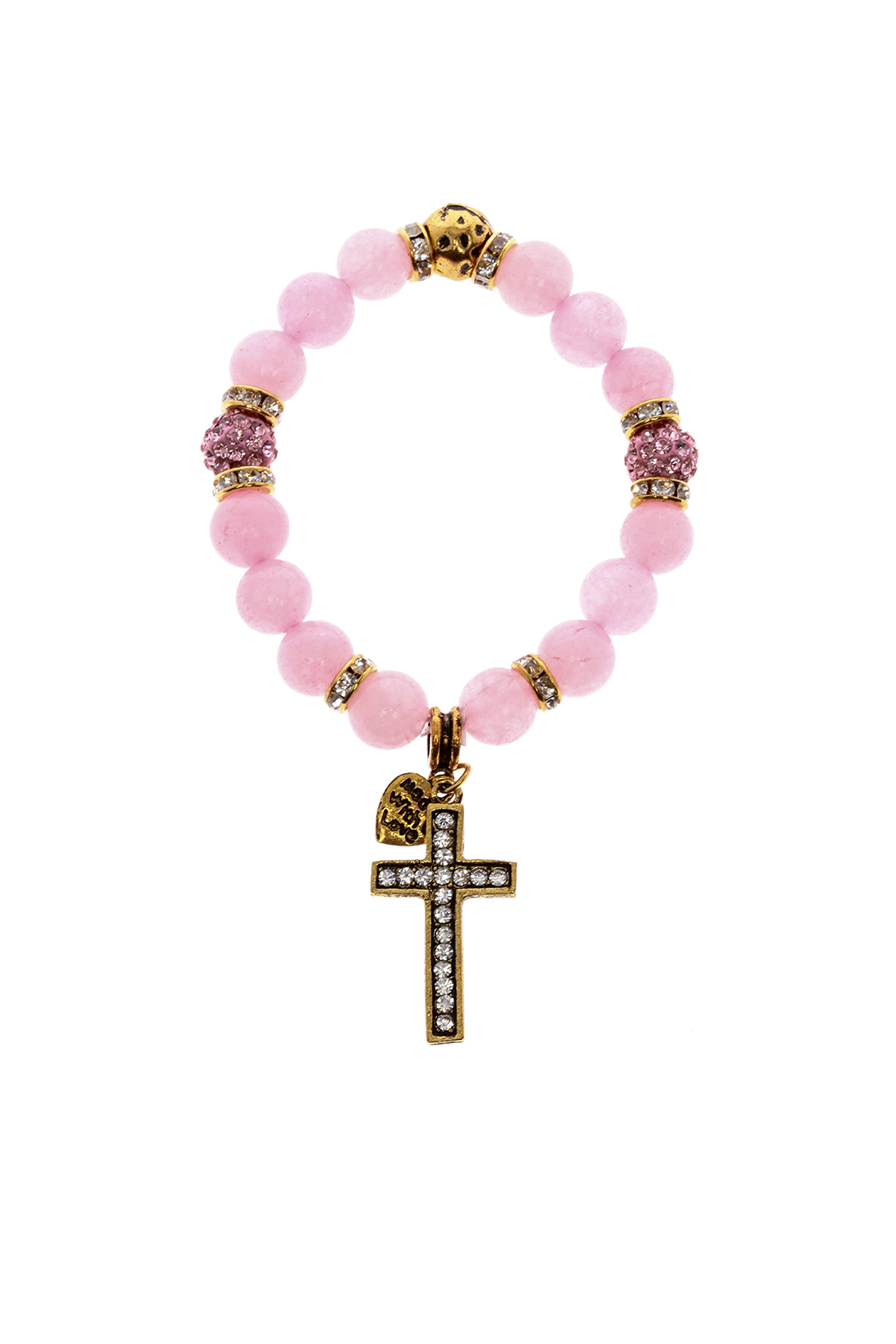Made It! Pink Gold Stretch Bracelet - Front Cropped Image