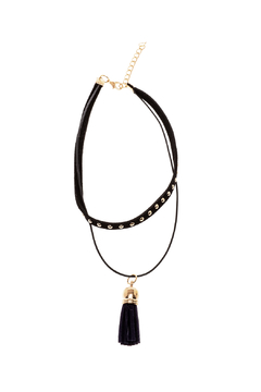 Shoptiques Product: Suede Tassel Choker Necklace