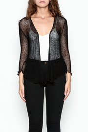 Made on Earth Black Shrug - Front cropped