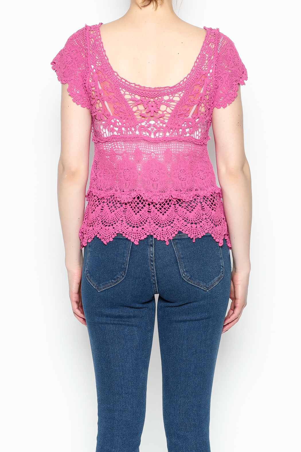 Made on Earth Lace Top - Back Cropped Image
