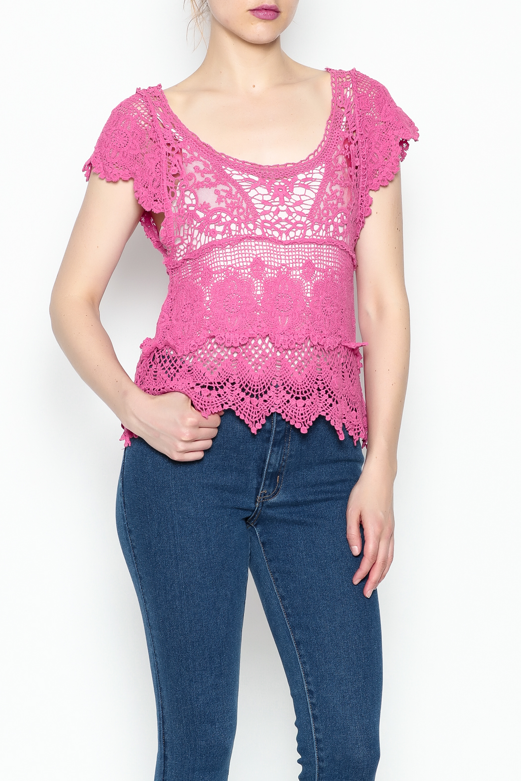 Made on Earth Lace Top - Side Cropped Image