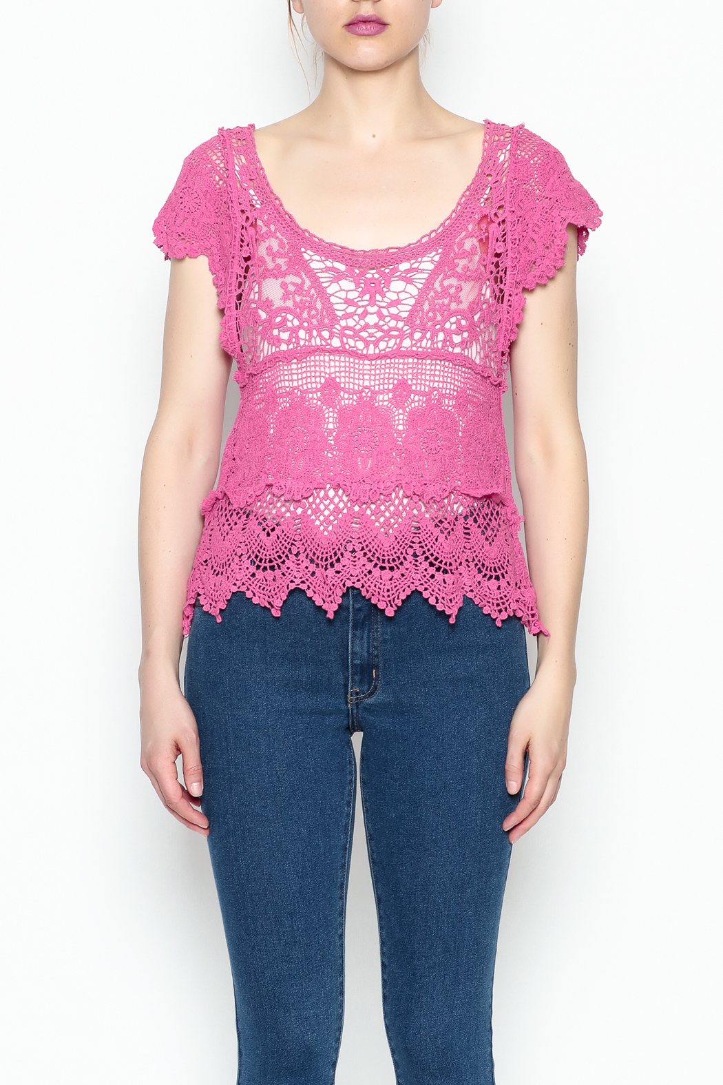Made on Earth Lace Top - Front Cropped Image