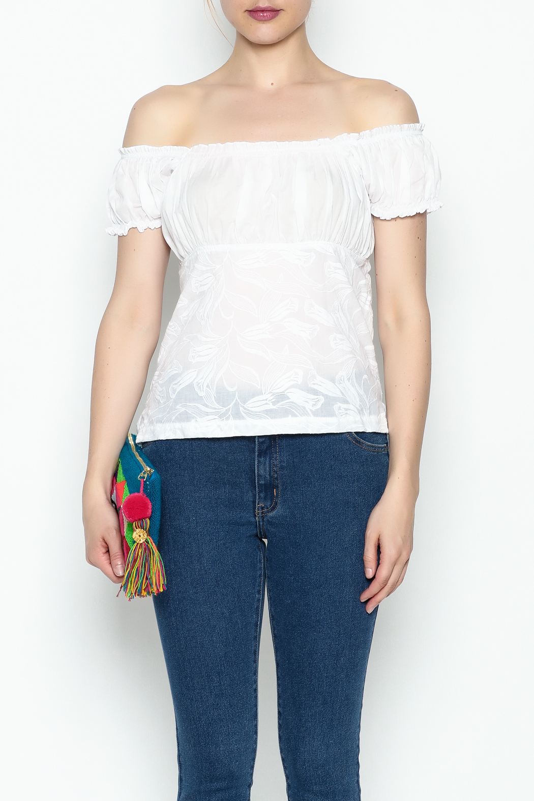 Made on Earth Embroidered Peasant Blouse - Front Cropped Image