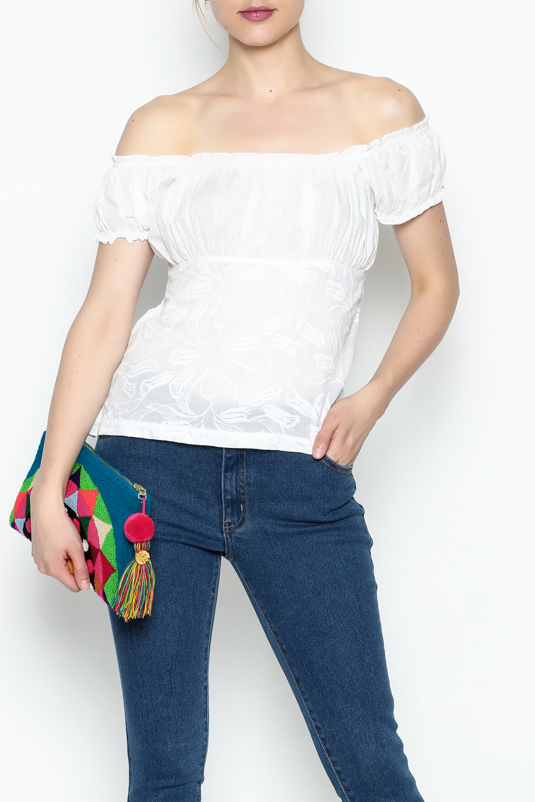 Made on Earth Embroidered Peasant Blouse - Main Image