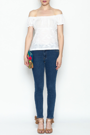 Made on Earth Embroidered Peasant Blouse - Front full body