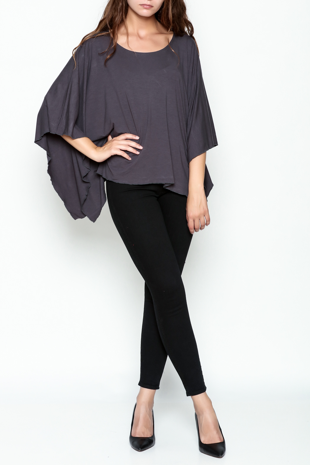 Made on Earth Poncho Top - Side Cropped Image
