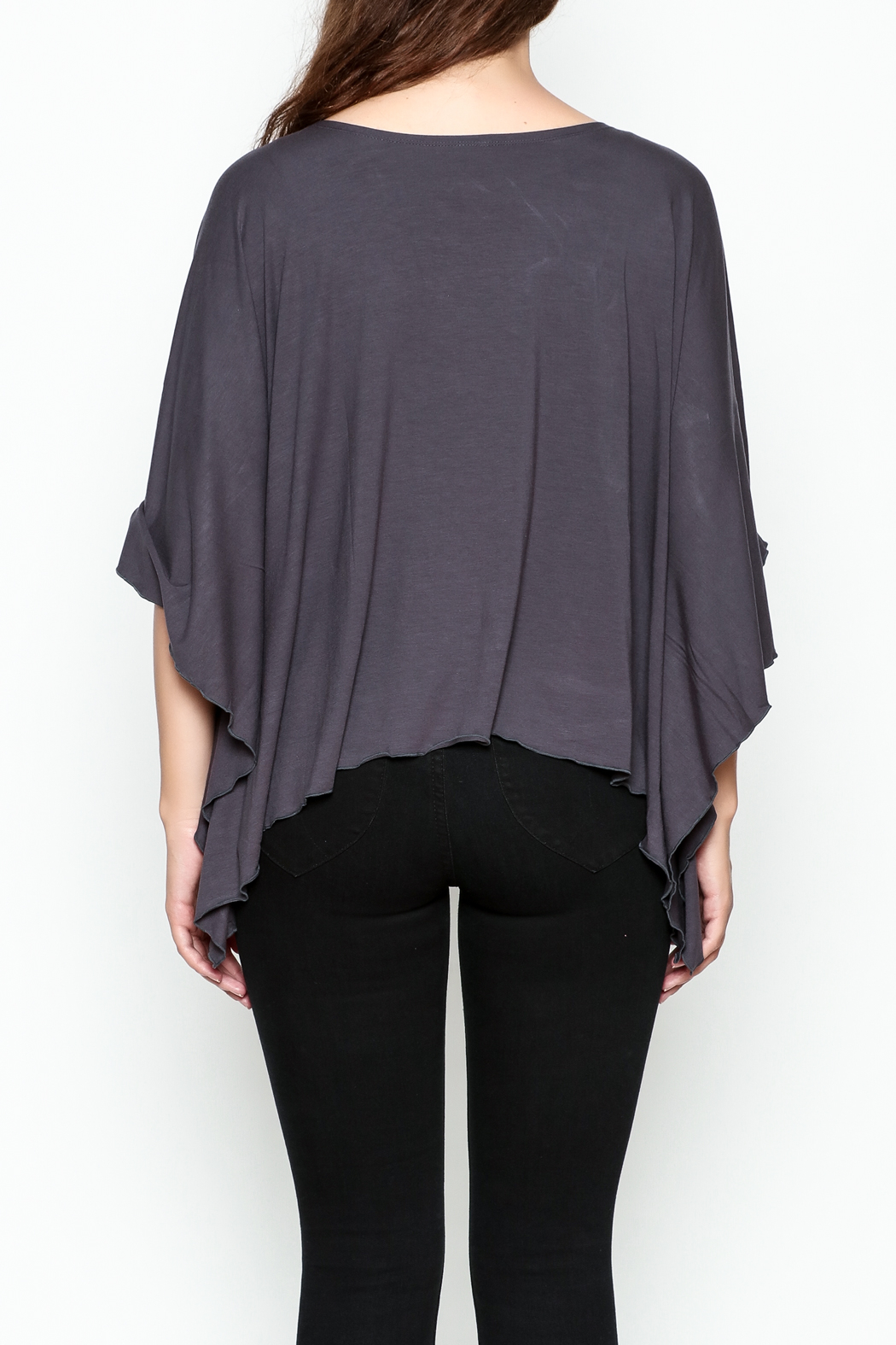 Made on Earth Poncho Top - Back Cropped Image