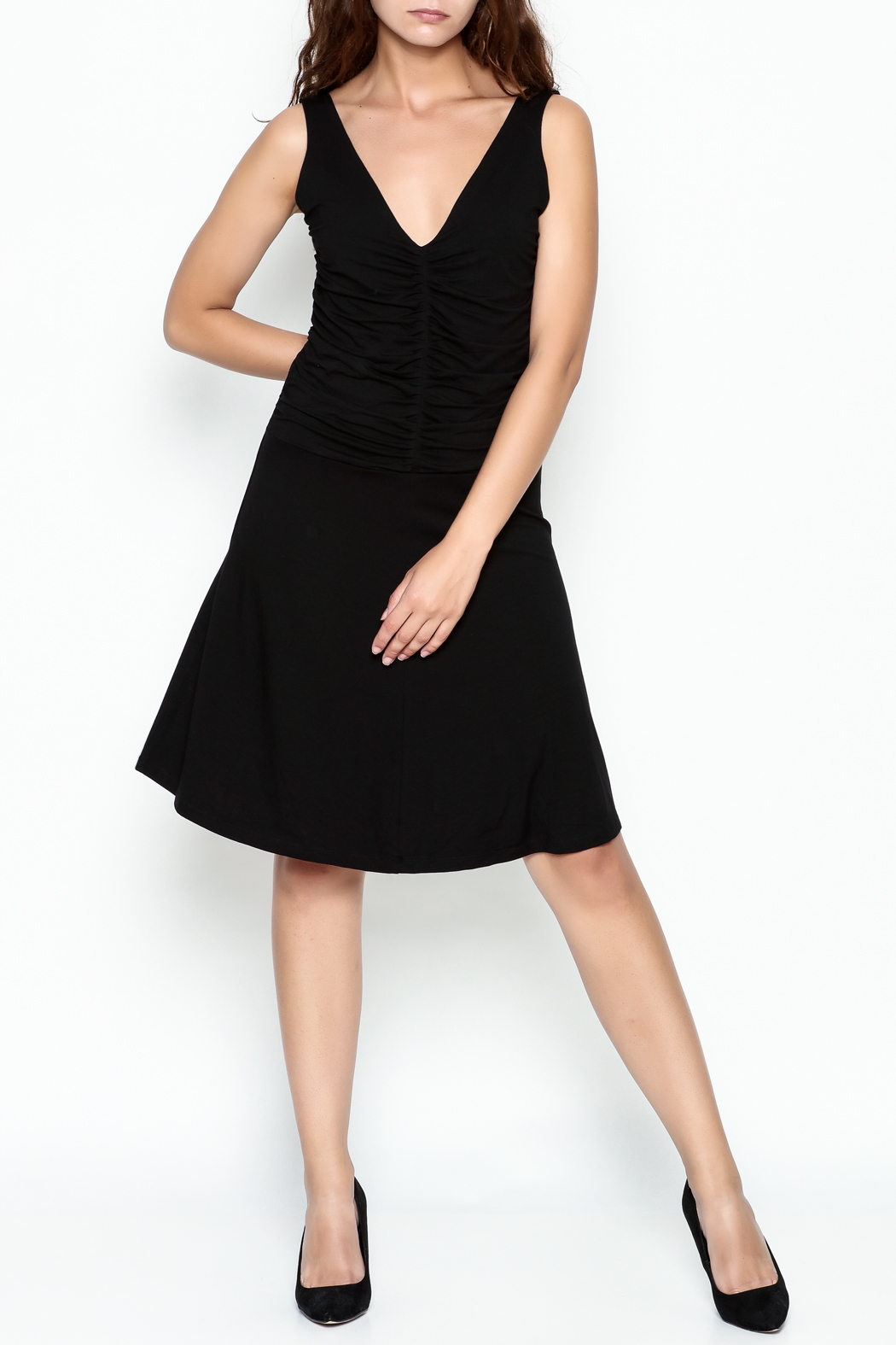 Made on Earth Ruched Dress - Side Cropped Image