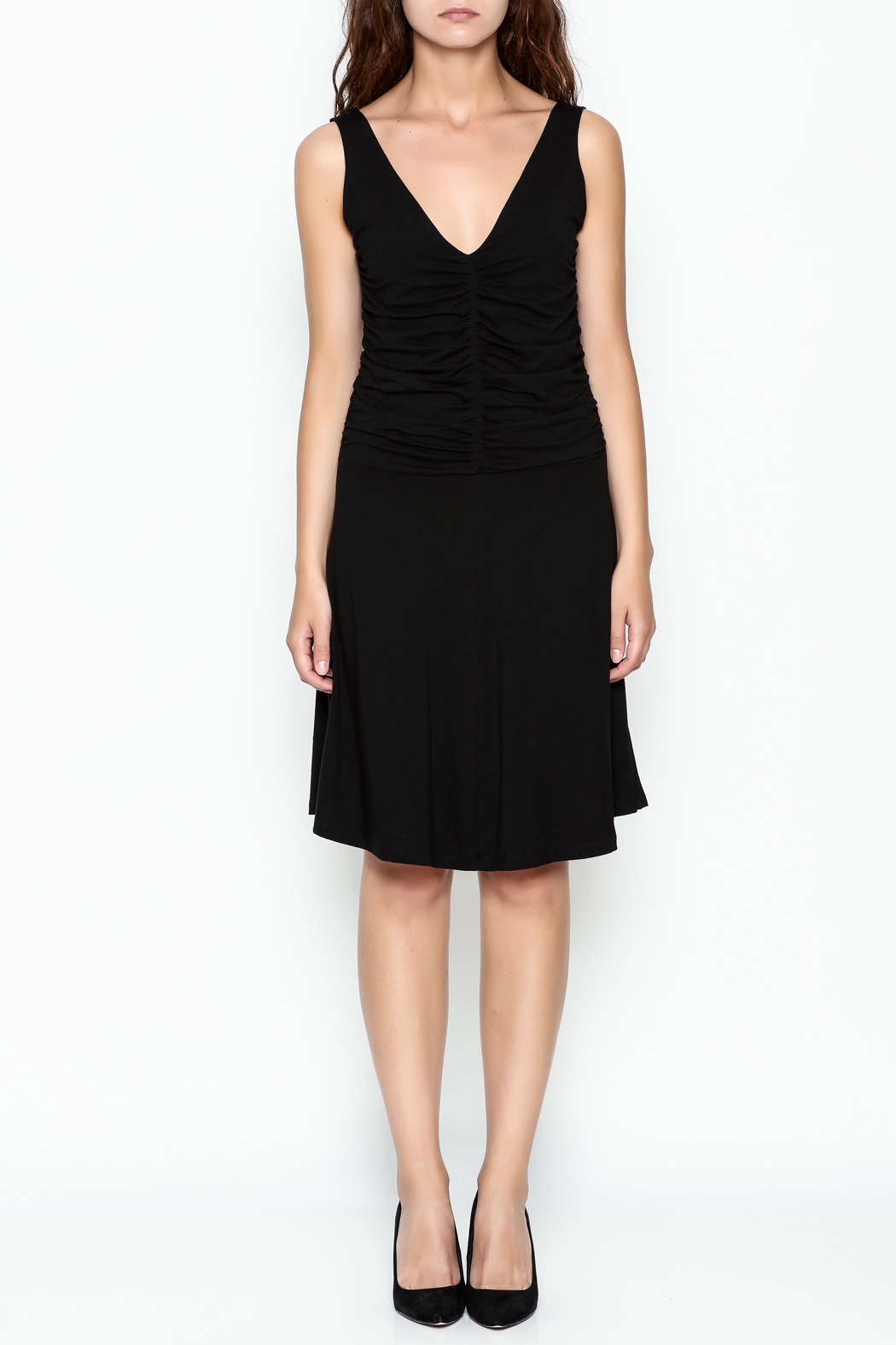 Made on Earth Ruched Dress - Front Full Image