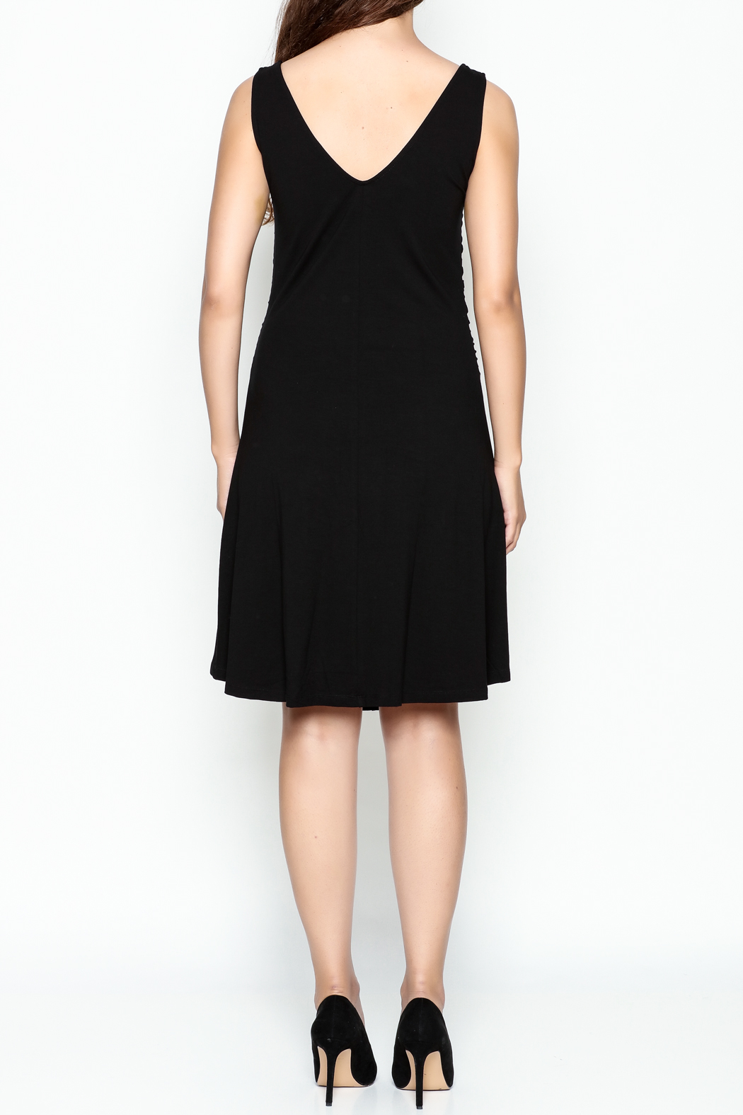 Made on Earth Ruched Dress - Back Cropped Image
